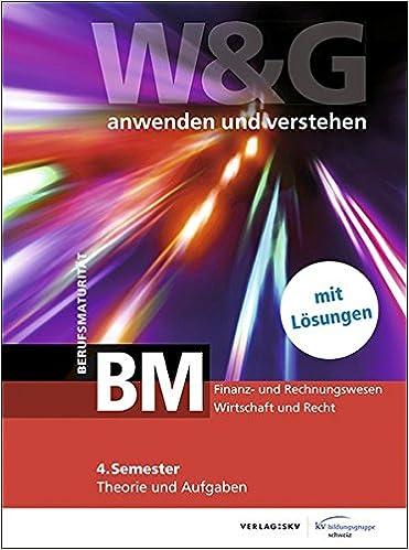 Wg Anwenden Und Verstehen Bm Berufsmaturität 4 Semester Kv