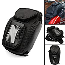 AUDEW Motorcycle luggage Tank Bag Sports Magnetic Oil Fuel Black Phone Pouch Package
