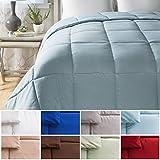 Alternative Comforter - Cheer Collection All Season Luxurious Down Alternative Hypoallergenic Solid Light Blue Comforter, Full/Queen