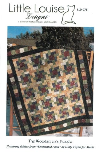 Puzzle Quilt Pattern (The Woodsmen's Puzzle Quilt Pattern, Make from Layer Cake 10