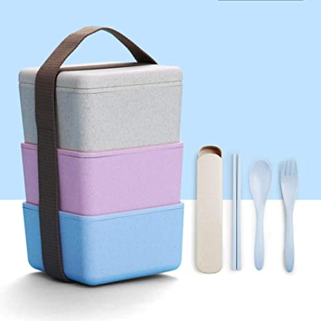 Amazon.com: W&lx - Fiambrera simple para adultos, microondas ...