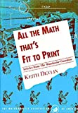 All the Math That's Fit to Print, Keith J. Devlin, 0883855151