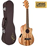 Oscar Schmidt OU8TLCE Spalted Maple Acoustic-Electric Tenor Ukulele w/ Hard Case & PC, OU8TLCE UC4
