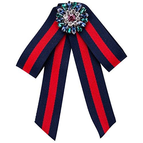 (Women Bowknot Brooches Pins Ribbon Vintage Collar Shirt Dress Jewelry)