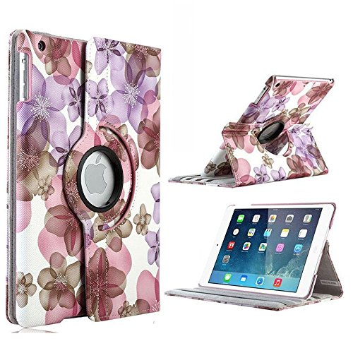 iPad Air 2 Case, iPad 6 Case, TabPow Floral Case [360 Deg...