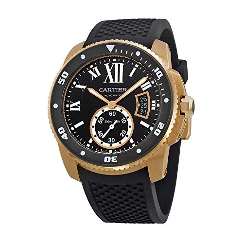 Cartier Calibre de Cartier Diver Automatic Black Dial Rubber Mens Watch W7100052