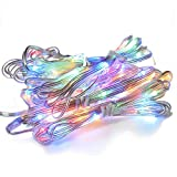 NCLed Multi 7 Colors Colored LED String Lights, Dimmable with Remote Control, Durable Waterproof for Patio Lights Umbrella Lights Hanging Outdoor Holiday Party Indoor Wall Decoration