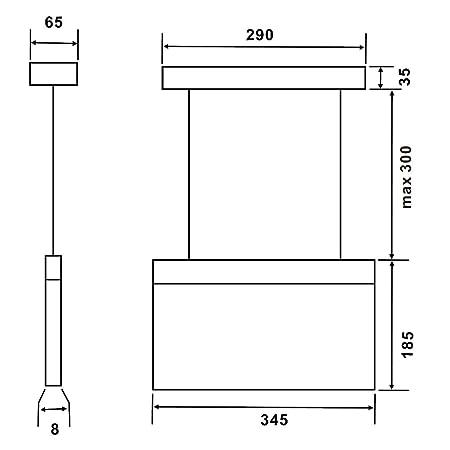 Biard Señal con Luz de Emergencia LED Rectangular de 7,5W con Flecha Hacia la Derecha - Luz De Mantenimiento/ Sin Mantenimiento - Comercial de ...