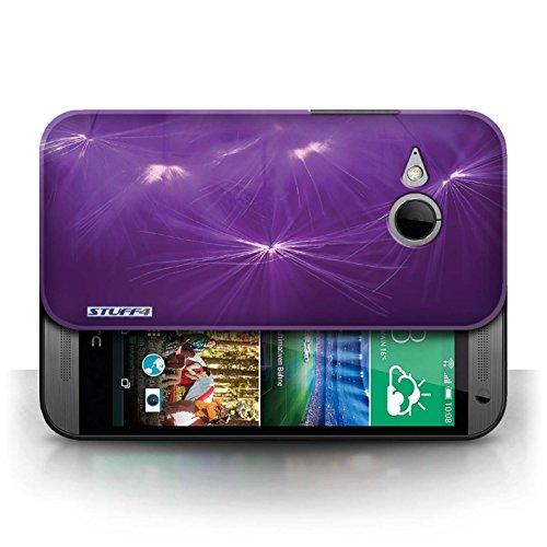 Etui / Coque pour HTC One/1 Mini 2 / Pourpre conception / Collection de Allumez la vie