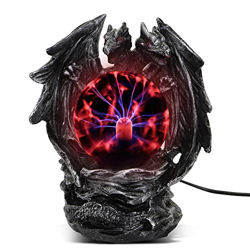 ANQIA Plasma Ball Lamp Touch Sensitive,Party Magical Electrostatic Red Color Crystal Ball for Christmas (Evil (Best Light Lamp With Touch Sensitive)