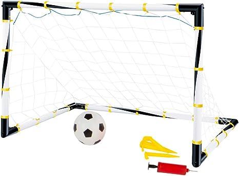 ColorBaby - Portería de fútbol plegable con balón e hinchador ...