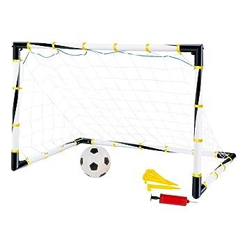 ColorBaby- Set portería Plegable + balón de fútbol + hinchador, 100 x 81 x 81 cm (43690): Amazon.es: Juguetes y juegos