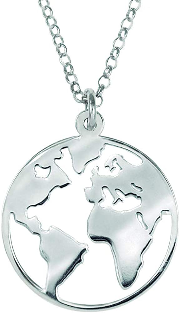 Malizzia Collar Mundo (Plata, 14mm): Amazon.es: Joyería