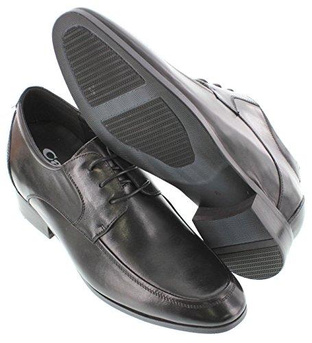 G-CALTO 6175-7,11 (2,8)-Tappetto cm, altezza aumentare ascensore scarpe di pelle, stringate, colore: nero)