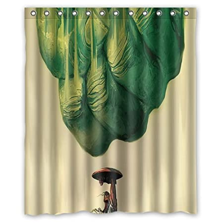 Hulk Fists Captain America Shower Curtain Bathroom Waterproof Fabric Set With 12 Hooks Decor 60x72 Inches