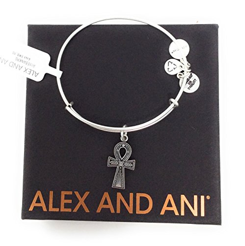 Alex and Ani Women's Ankh Bangle Rafaelian Silver One - Gold Ankh Ring