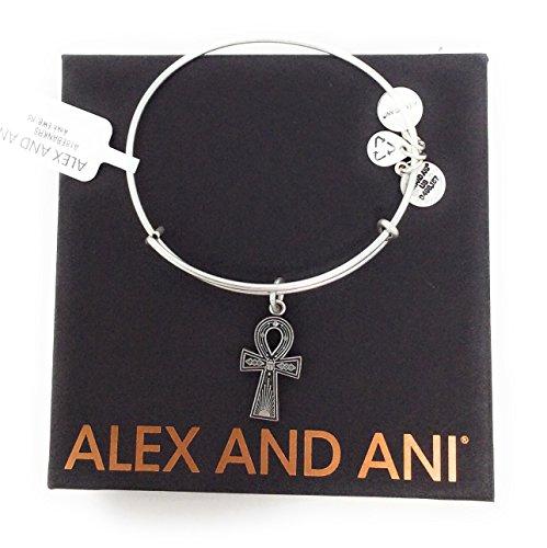 Alex and Ani Women's Ankh Bangle Rafaelian Silver One - Ankh Ring Gold