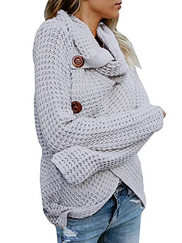 133283599 PASLTER Womens Sweaters Cowl Neck Fall Long Sleeve Pullover Wrap Sweater at  Amazon Women s Clothing store