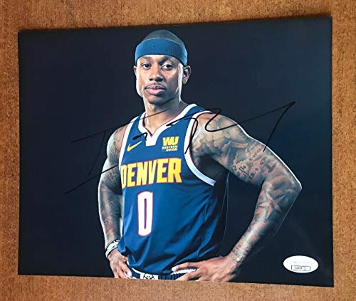 Isaiah Thomas Denver Nuggets Autographed Signed Memorabilia 8x10 Photo With JSA Coa ()