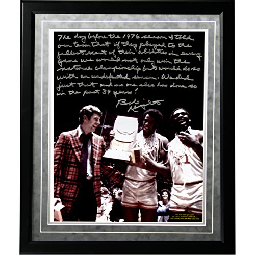 NCAA Indiana Hoosiers Bob Knight Facsimile 'Undefeated Season' Story Metallic Framed 16x20-Inch Photo by Steiner Sports