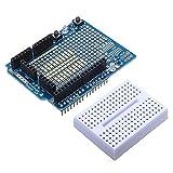 Arduino Compatible 328 ProtoShield Prototype Expansion Board With Mini Breadboard
