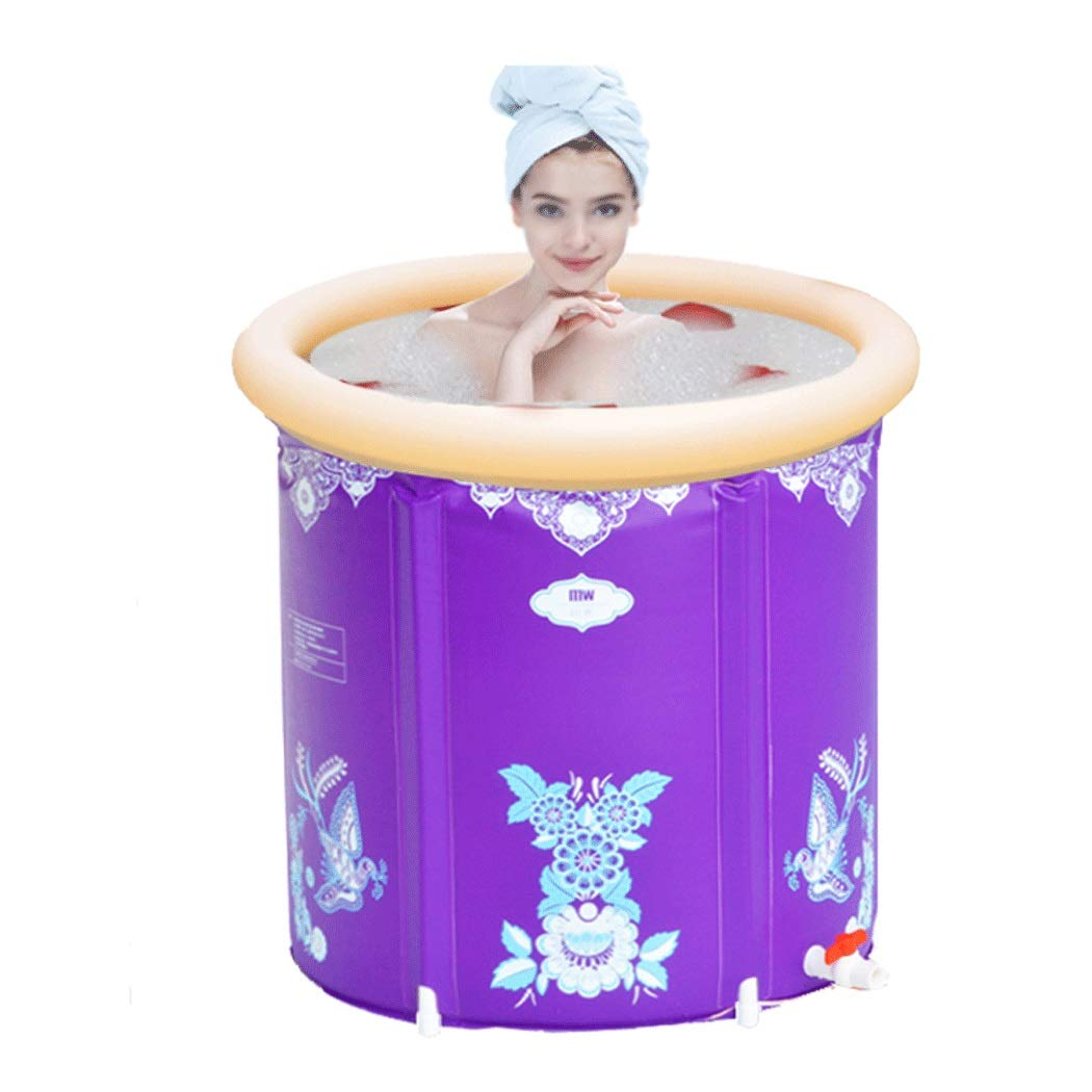 GJFeng Folding Inflatable Bath Barrel Adult Tub Household PVC Bathtub Thickening Warm 65cm70cm75cm
