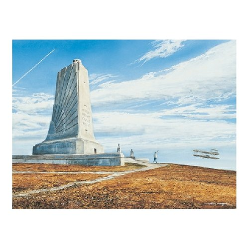 First Memorial Brothers Flight Wright (Heritage Puzzle - William Mangum - First Flight At Kitty Hawk - Jigsaw Puzzle - 550 Pc)