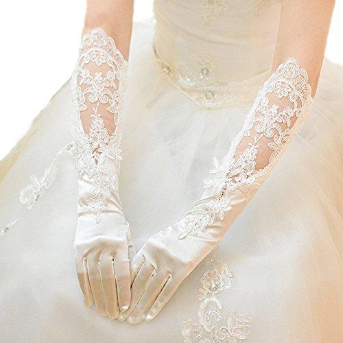 RIKOUZY(リコウゼワイ)ウェディンググローブ ブライダルグローブ ネイル手袋 ロング ストレッチ ブライダル手袋 花嫁用品