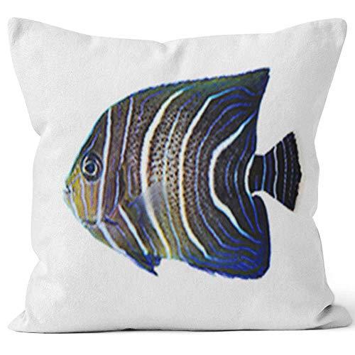 Koran Angelfish Burlap Pillow Home Decor Throw Pillow Cover,HD Printing Cotton Linen Cushion for Couch Sofa Bedroom Livingroom Kitchen Car,40