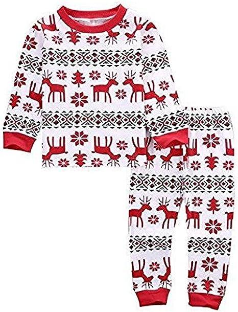 cooshional Conjunto de Pijama Familia de Navidad Ropa de Dormir Navideño para Bebé/Niño/Adulto