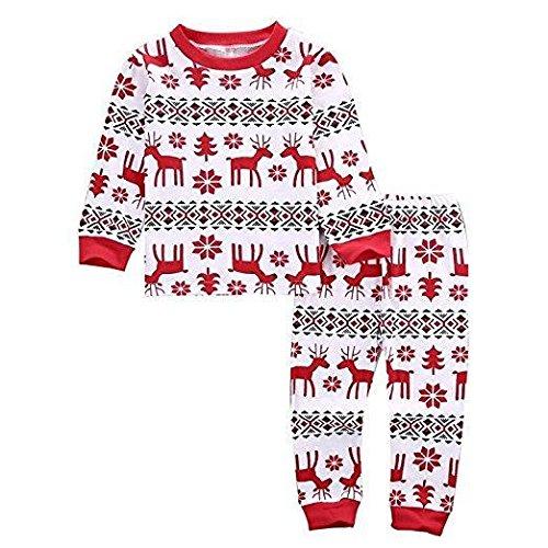 cooshional Conjunto de Pijama Familia de Navidad Ropa de Dormir Navideño para Bebé/Niño/