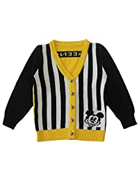 WEIXUAN Little Boys' 100% Cotton Striped Cardigan Sweater (Baby boy/ Toddler)
