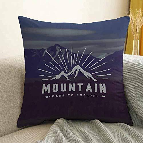 - FreeKite Adventure Bedding Soft Pillowcase Dare to Explore Quote Mountain Landscape Journey Adventure Themed Motivational Image Hypoallergenic Pillowcase W16 x L16 Inch Indigo
