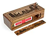 Wolf -Grey Wolf- Gray Wolf Engraved Wooden Cribbage Board with Quality Metal Pegs