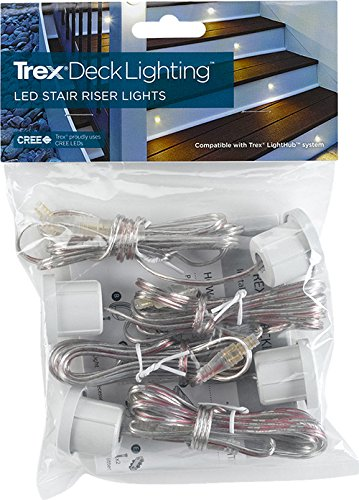 LED Stair Light- Classic White, (4- pack), WTRISERLED4PKC by TREX (Image #3)