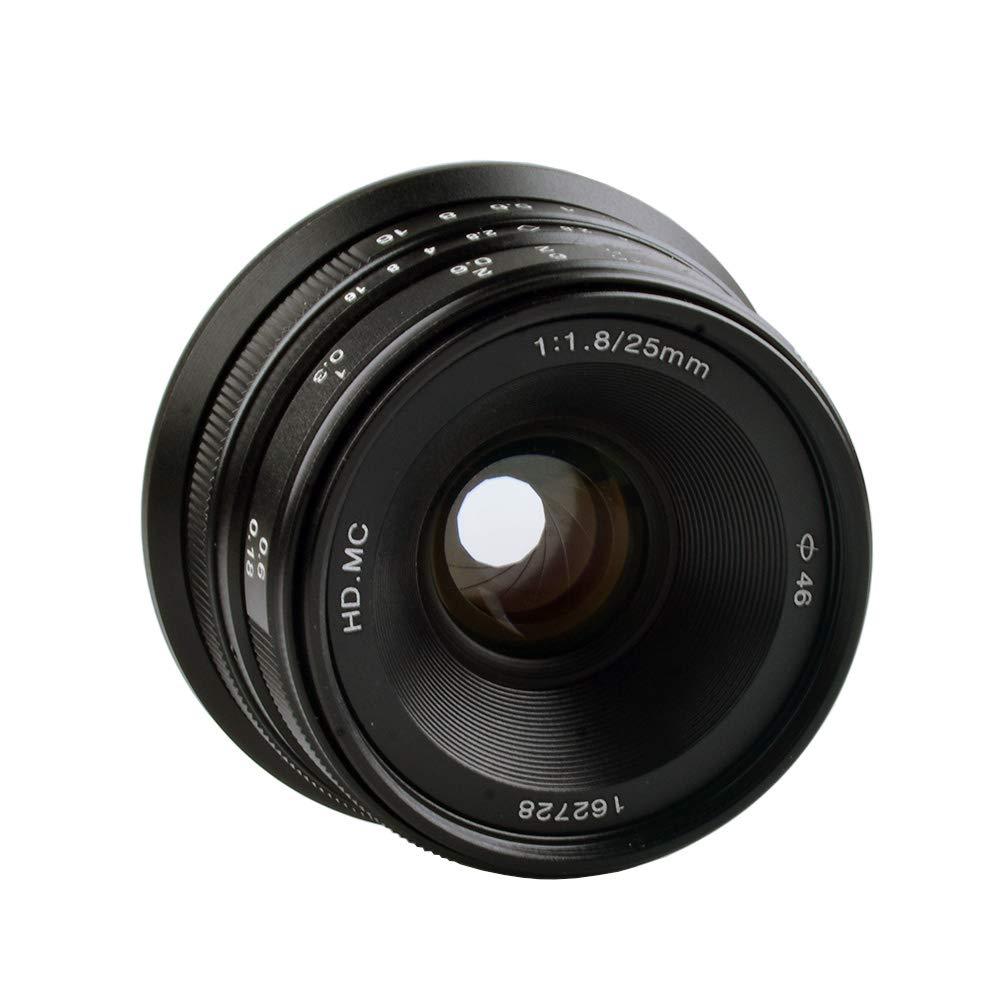 Lightdow 25mm F1.8 Large Aperture Manual Focus Lens For Fujifilm Cameras X-H1, X-A5, X-A20, X-A3, X-T20, X-A10, X-T2, X-Pro2, X-T100, X-E3, X-T1, X-A2, X-T10, X-E2S