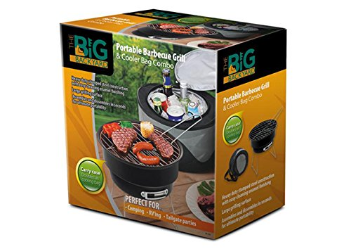 (Portable Barbecue BBQ Grill & Cooler Bag Combo Cooker Outdoors)