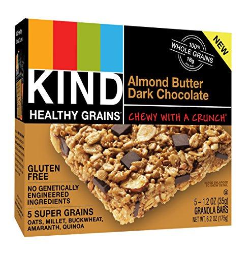 KIND Healthy Grains Bars, Almond Butter Dark Chocolate, Non GMO, Gluten Free, 1.2 oz, 40 Count