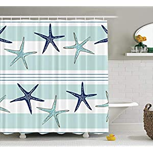 51N47dUJH1L._SS300_ 200+ Beach Shower Curtains and Nautical Shower Curtains