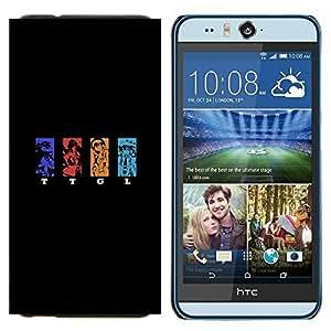 EJOOY---Cubierta de la caja de protección para la piel dura ** HTC Desire Eye M910x ** --TTGL