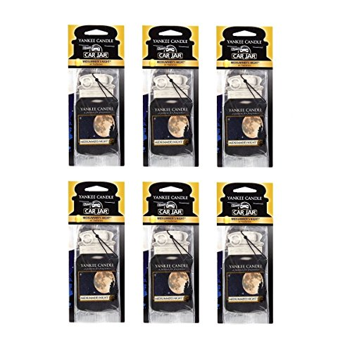 Yankee Candle MidSummer's Night Paper Car Jar Hanging Air Freshener (Pack of 6) by Yankee Candle Company