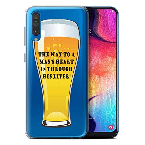 eSwish Gel TPU Phone Case/Cover for Samsung Galaxy A50 2019 / to a Mans Heart Design/Beer Slogans Collection from eSwish