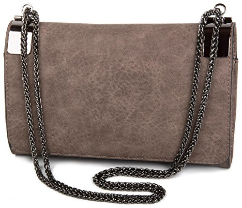 and 02012046 Taupe Color styleBREAKER coil vintage chain plain clutch bag evening metal ladies Taupe clasp design with qSSY4OZg