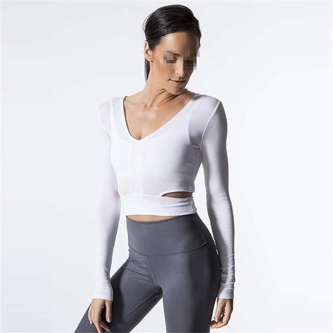 PQXOER Tops de Yoga para Mujer Tops de Mujer Camisetas sin Mangas ...