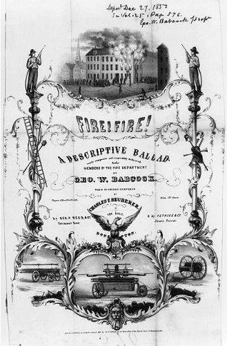 Photo: Fire! Fire!,1850,Photo of Descriptive Ballad,George W. Babcock,Heuberer