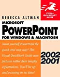 PowerPoint 2002/2001 for Windows and Macintosh, Rebecca Bridges Altman, 0201775859