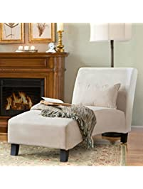 Traditional Chaise Lounger  This Polyester Microfiber Upholstered Lounge Is  Perfect For Your Home Or Office