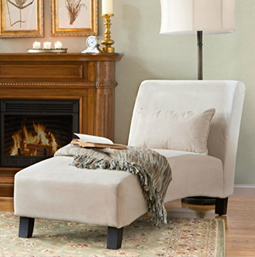 Traditional Chaise Lounger -This Polyester Microfiber Upholstered Lounge Is Perfect for Your Home or Office - Put This (Indoor Chaise Chair Cover)
