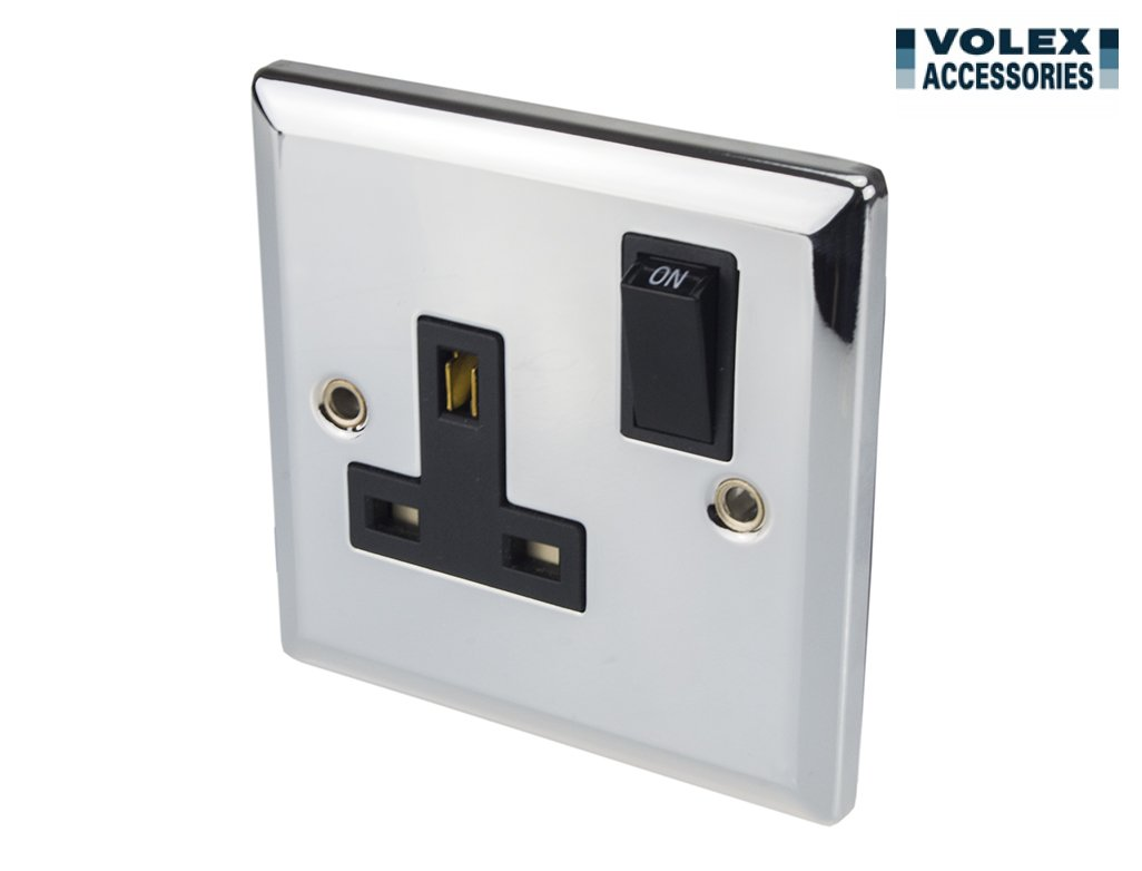 Volex 13A Single Switched Socket Double Pole 1 Gang: Amazon ... on light switch blue, light switch terminals, light dimmer switch, light switch insulation, light switch connections, light switch repair, light switch operation, light switch paint, light switch socket, light switches, light switch breakers, light switch grounding, light switch three, light switch painting, light switch parts, light switch interior, light bulb, light switch installation, light switch lamps, light switch electrical,