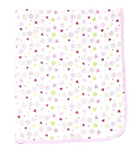 Manta gruesa de doble capa para jugar y seguridad, Rosado (Pink Flower), Talla única